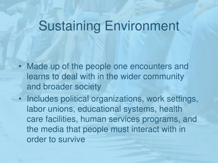 Sustaining Environment