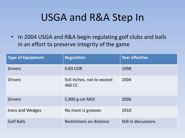USGA and R&A Step In