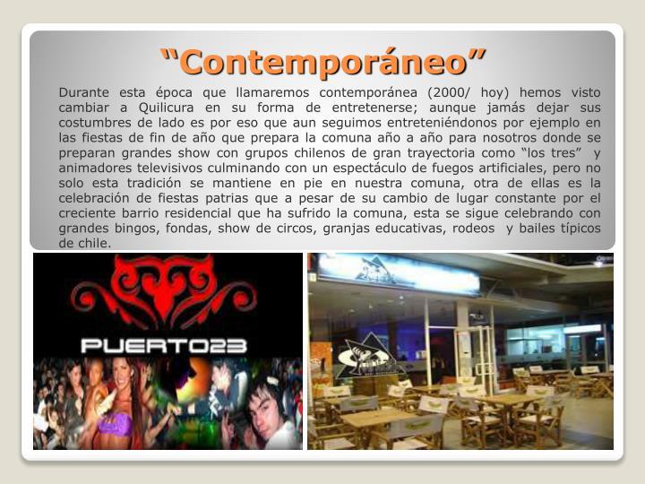 """""""Contemporáneo"""""""