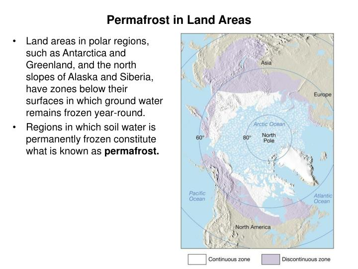 Permafrost in Land Areas