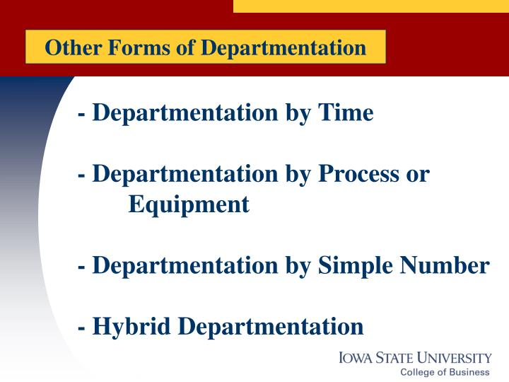 Other Forms of Departmentation