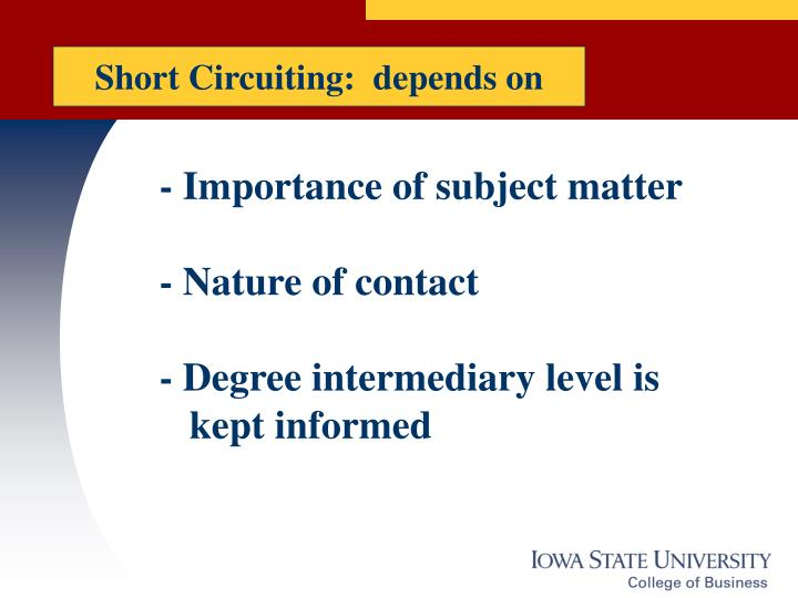 Short Circuiting:  depends on