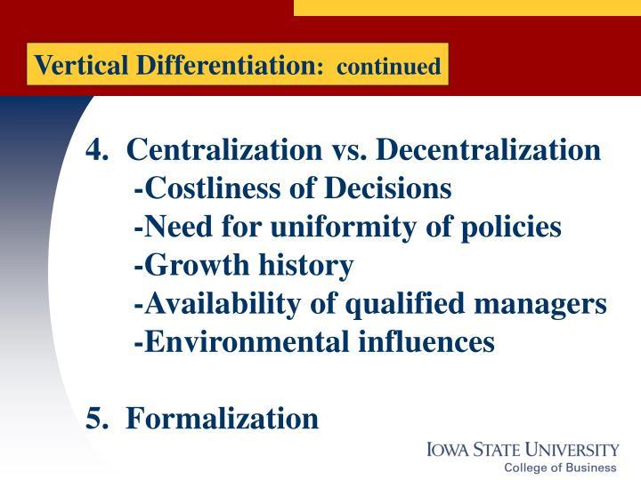Vertical Differentiation