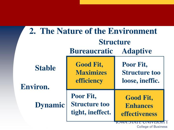 2.  The Nature of the Environment
