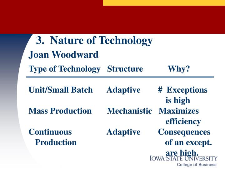 3.  Nature of Technology