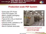 osu pef demo system fy 99 03 dust outcome