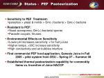 status pef pasteurization