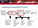 greening the acquisition process