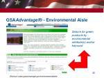 gsa advantage environmental aisle