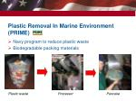 plastic removal in marine environment prime