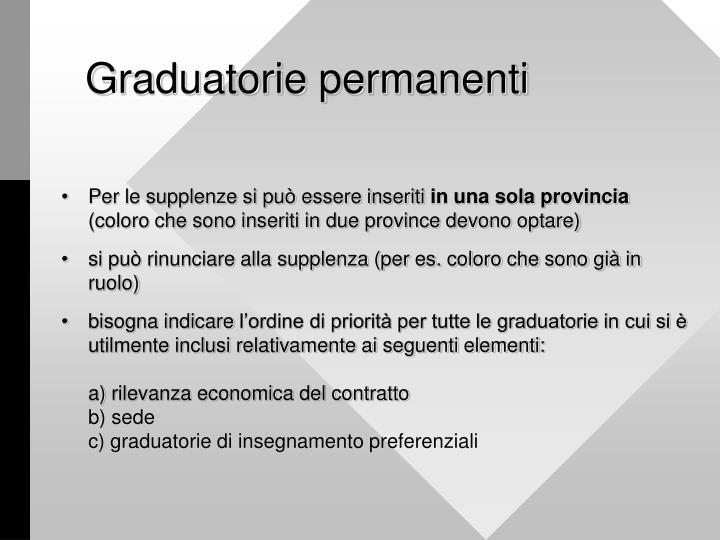 Graduatorie permanenti