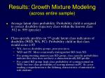 results growth mixture modeling across entire sample