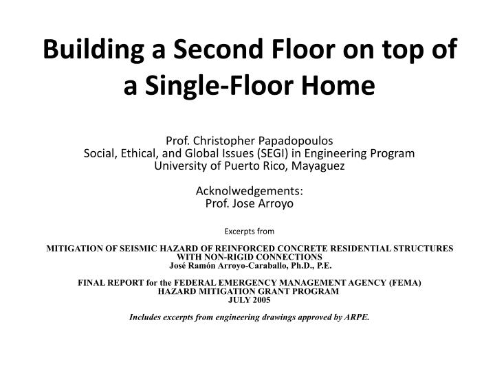 Building a Second Floor on top of a Single-Floor Home