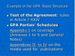 example of the gpa basic structure