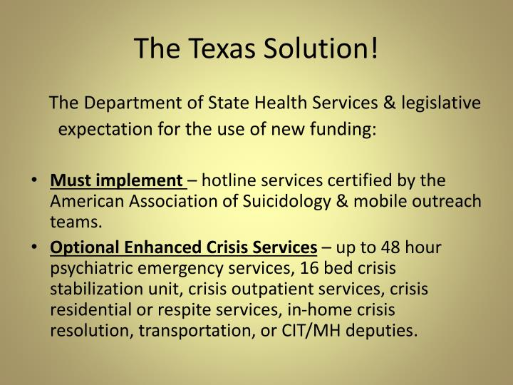 The Texas Solution!