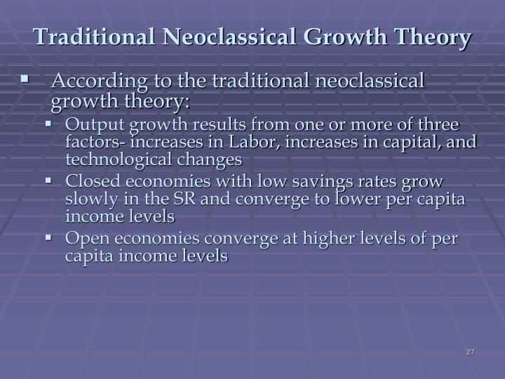 neoclassical growth model essay Random matching and money in the neoclassical growth model: some analytical results christopher j waller papers (other than an is 'forced™into the neoclassical growth model, via the assumption of cash-in-advance.