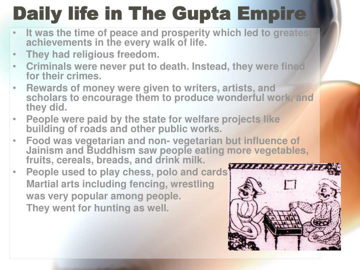 Daily life in The Gupta Empire