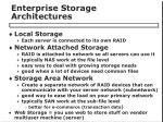 enterprise storage architectures