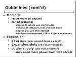 guidelines cont d