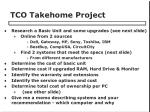 tco takehome project