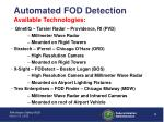 automated fod detection available technologies