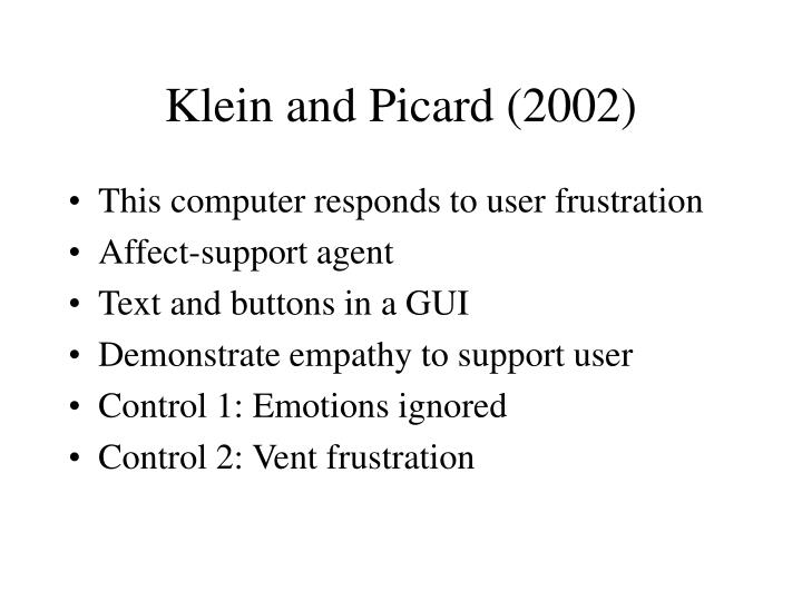 Klein and Picard (2002)