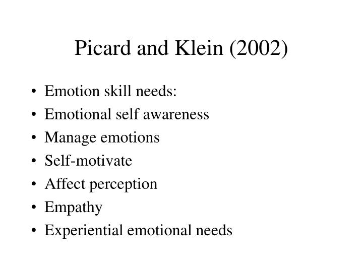 Picard and Klein (2002)