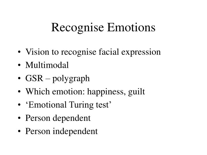 Recognise Emotions