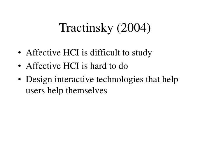 Tractinsky (2004)