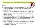 concessionaire may make money continued