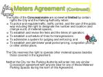 meters agreement continued