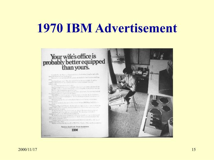 1970 IBM Advertisement