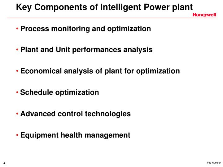 Key Components of Intelligent Power plant