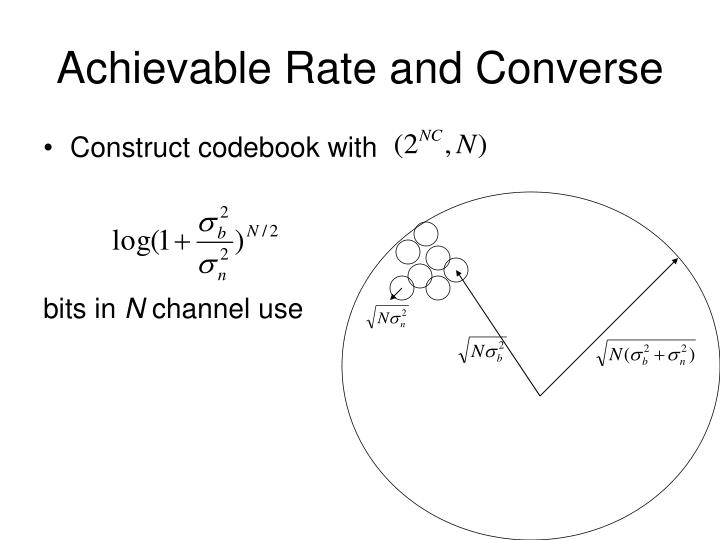 Achievable Rate and Converse