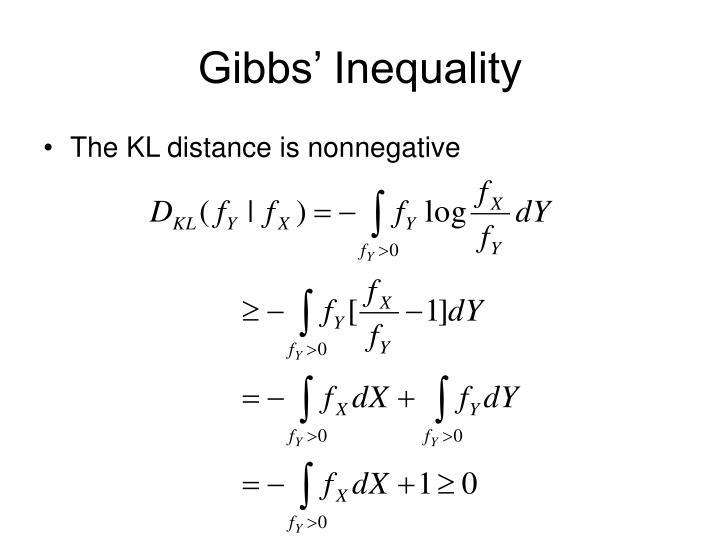 Gibbs' Inequality