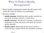 what is project quality management