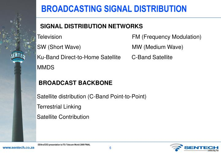 BROADCASTING SIGNAL DISTRIBUTION