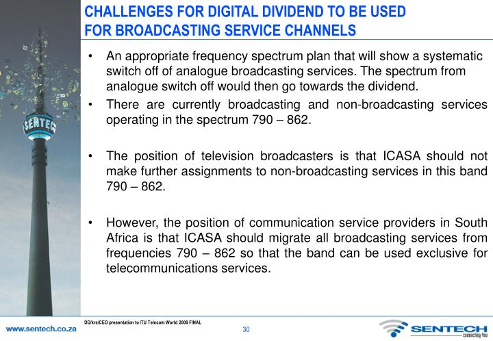 CHALLENGES FOR DIGITAL DIVIDEND TO BE USED