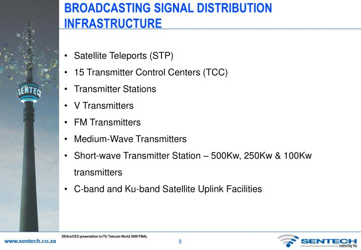 BROADCASTING SIGNAL DISTRIBUTION INFRASTRUCTURE