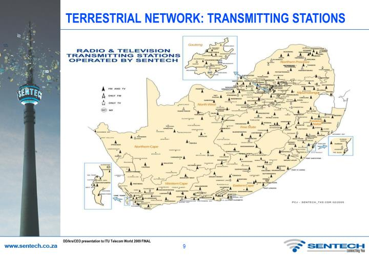 TERRESTRIAL NETWORK: TRANSMITTING STATIONS