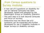 from census questions to survey modules