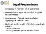 legal preparedness