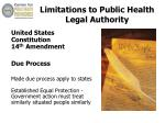 limitations to public health legal authority2