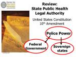review state public health legal authority