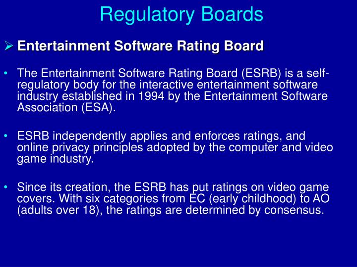Regulatory Boards