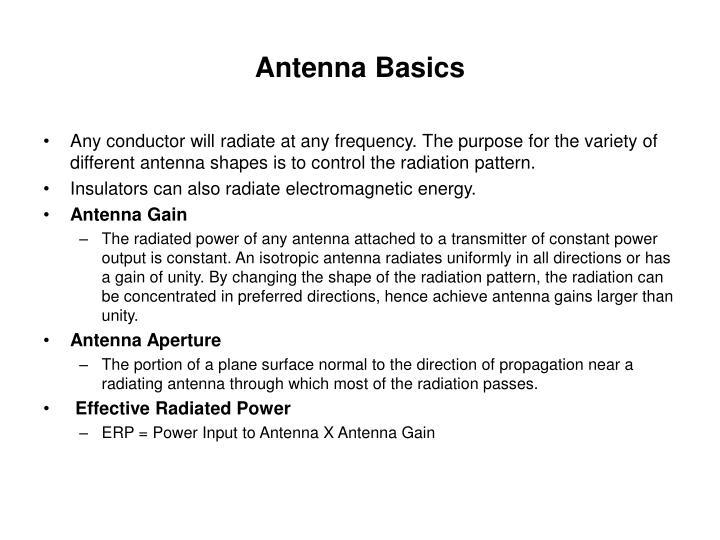 Antenna Basics