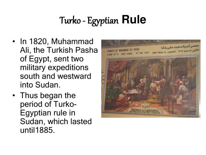 Turko egyptian rule