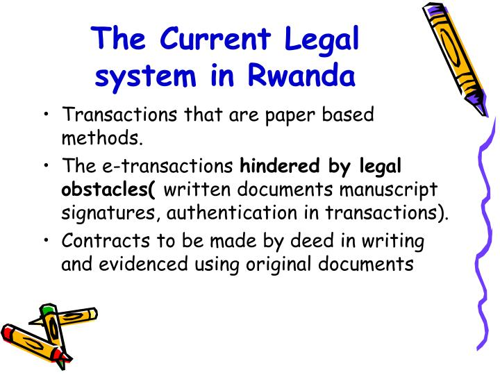 The Current Legal system in Rwanda