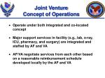 joint venture concept of operations