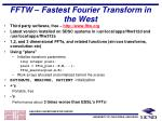 fftw fastest fourier transform in the west